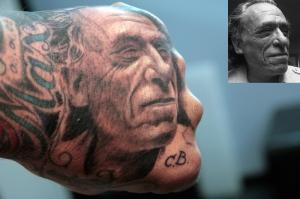 Bukowski hand tattoo